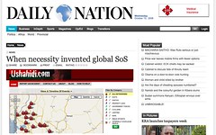 Ushahidi in the Kenya's Daily Nation