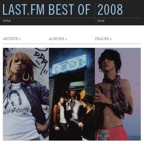 Last.fm Best of 2008