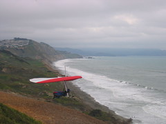 Hang glider at Fort Funston