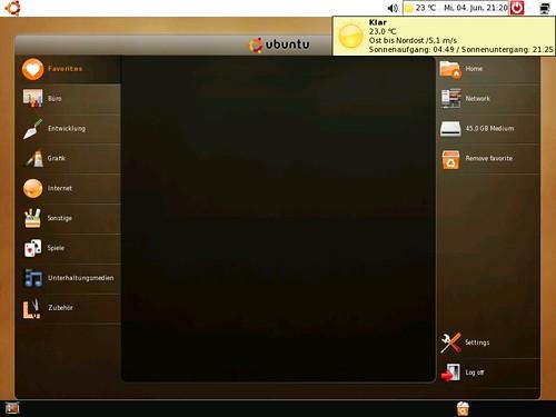 Netbook Remix executando em 800x600