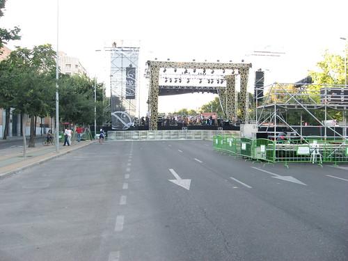 Republica Argentina cortada por la Noche Blanca Flamenco Escenario Chambao.