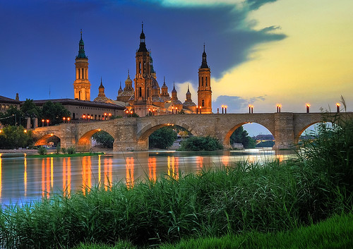 Basilica del Pilar, sunset by Paulo Brandão, on Flickr