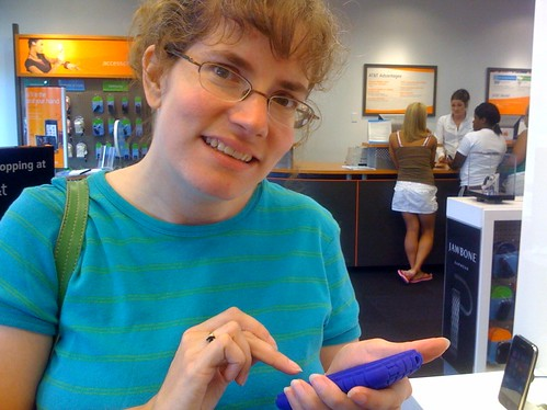 Stephanie's birthday iPhone.