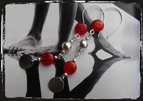 Orecchini rossi - Red earrings MEHIRCI