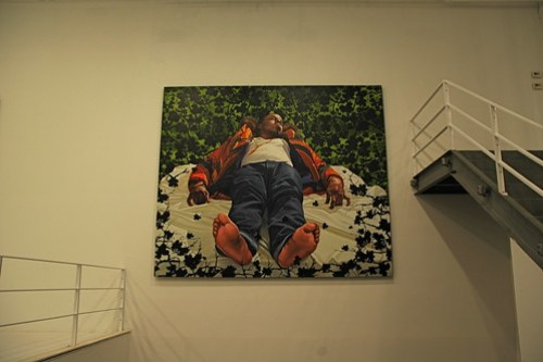 "Kehinde Wiley's ""Down"" exhibit"