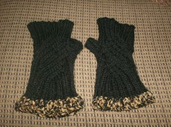 Fancypants Fingerless Mitts - 1