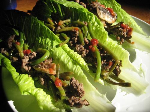 ginger lime lettuce wraps