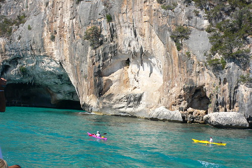 Sea caves in the Gulf of Orosei by heatheronhertravels, on Flickr