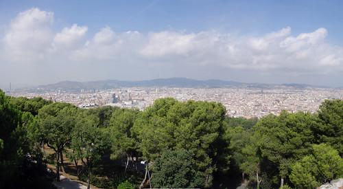 Barcelona from Montjuïc panorama - 4
