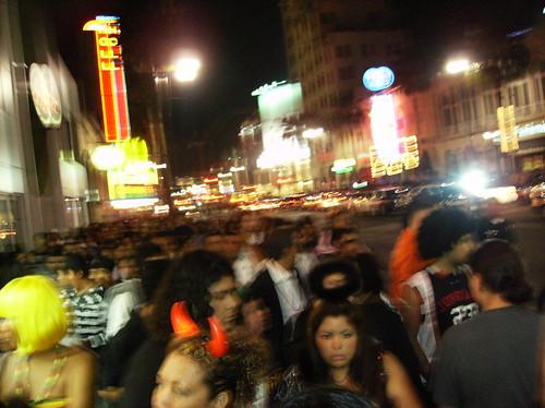 Hollywood Blvd on Halloween 2008