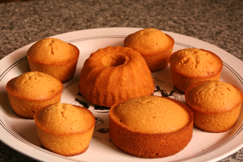 caramel cupcakes and minicakes