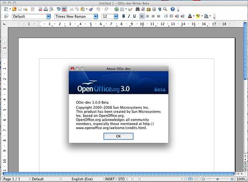 OpenOffice 3 Beta