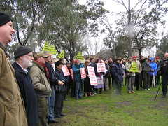 Yarra Campaign Against the Tunnel - Rally at Smiths Reserve