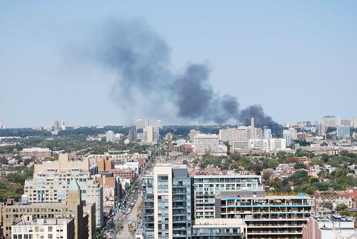 Fire near University of Toronto