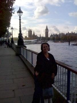 Miss L & Liz on the Embankment