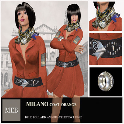 Milano  coat orange