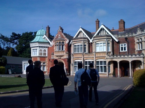 team #gfnbpark walk up to the main house at bletchley