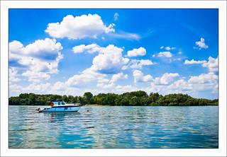 Sunny day over Sava river