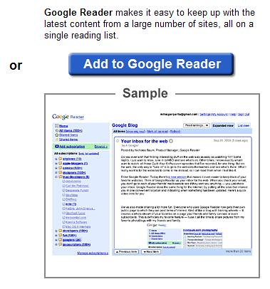 Google Reader - Add Feed