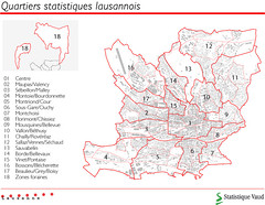 Quartiers statistiques de Lausanne