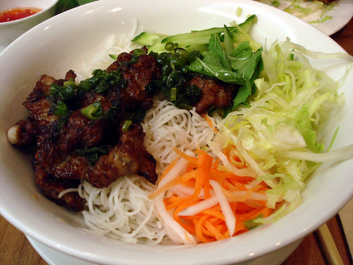Grilled Pork on Rice Noodles