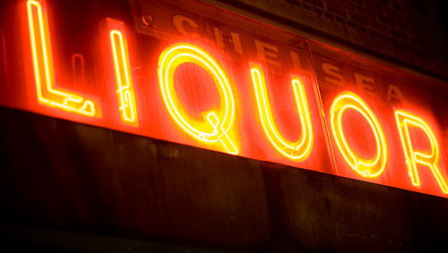 Neon Liquor Sign