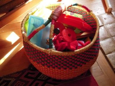 Basket full of toys...