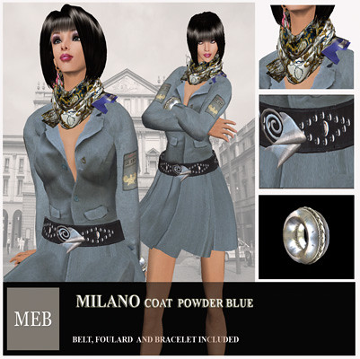 Milano coat blue
