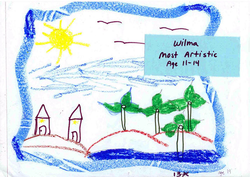 Last November 2008, Greenpeace went to a an orphanage, outside of Manila, to talk about the environment. Kids ages 7 to 14 learned about waste segregation and energy efficiency. This is how one of the children envisioned a greener and peaceful world.