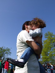 Daddy kisses...