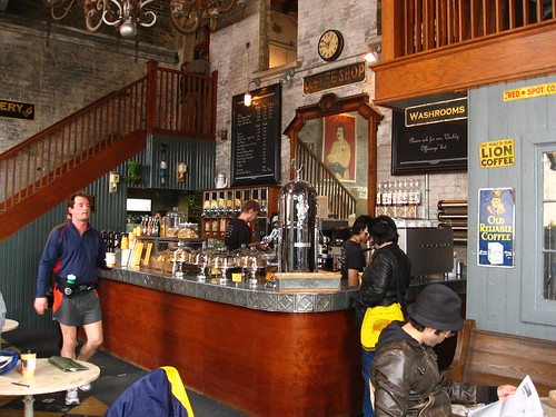 Balzac's Coffee Roastery in Toronto's Distillery District.