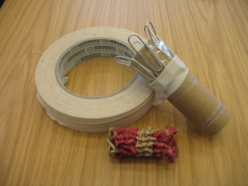 Creating a knitting spool 004