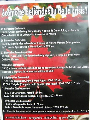 Ciclo Conferencias en la sede de la CNT en Córdoba.