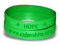 Caden White Silicone Wrist Band