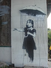 banksy - raining the wrong way by anthonyturducken