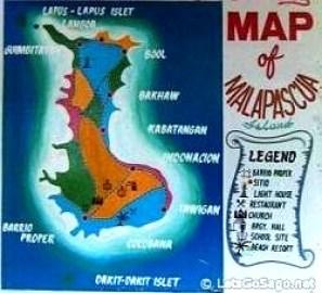 Malapascua Island Map