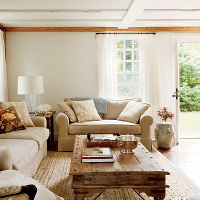 Coastal Living living room silver bowl