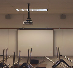 Projector and Smart Board in Classroom