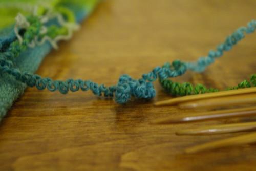 frogged, un-knit yarn