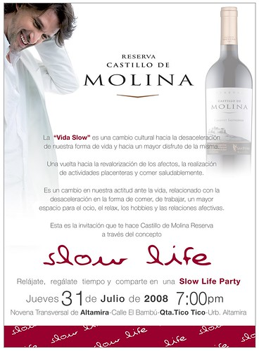 Invitaci?n Castillo de Molina-Slow Life Party