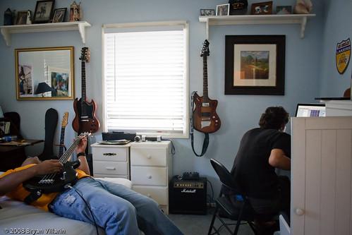 Recording bass tracks (296/366)