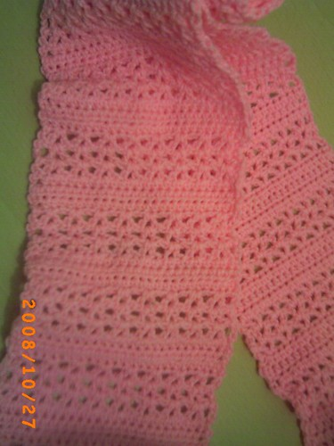 This pic shows the color better - its a really light but bright pink.