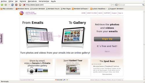 recoge las fotos y videos de tus emails y haz galerias