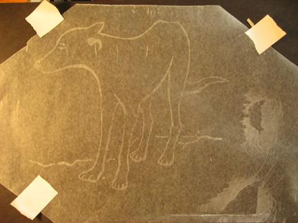 Wax paper rubbing demo II