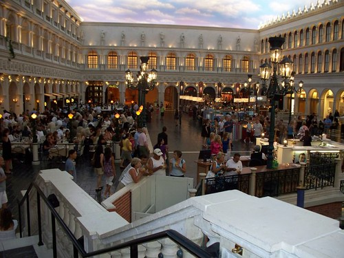 The Venetian Marketplace. Can you believe this is INDOORS at 11 oclock at night?