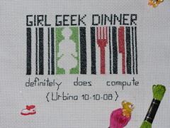 Logo GGD Italia ricamato a punto croce