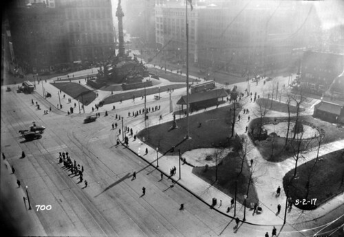 Public Square - Cleveland, Ohio - 1917 by Cleveland Memory Project.