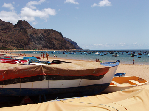 A sun soaked Tenerife beach