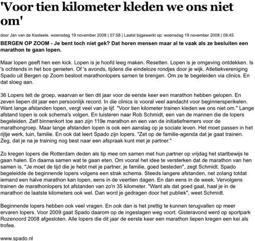 Regio - Bergen op Zoom - 'Voor tien kilometer kleden we ons niet om' | bndestem