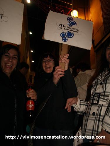 Mariagustina no rode aixina! manifestación en las Tascas 20·XI·08 foto007